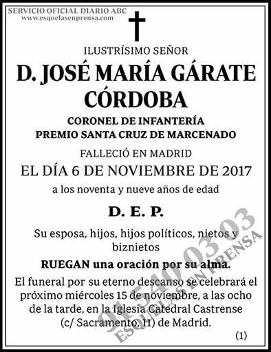 José María Gárate Córdoba
